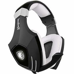 USB Gaming Headset-SADES A60/OMG Computer Over Ear Stereo He