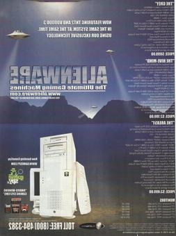 Vintage/Retro Alienware Gaming PC's Multi System Print Ad Pr