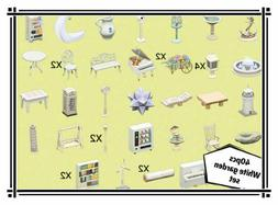 White Garden theme Set 40pcs - Animal Crossing New Horizons