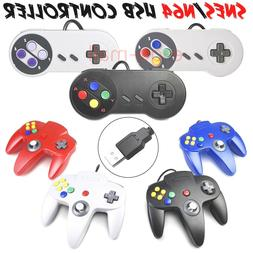 Wired N64 SNES USB Controller Game Pad Joypad for Windows PC